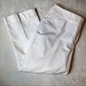 Ann Taylor White Crop Pants